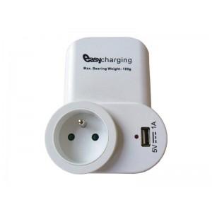 SKROSS USB nabíjací adaptér s priebežnou zásuvkou, 1000mA