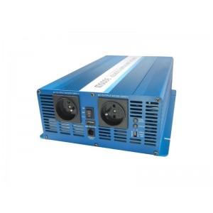 Menič napätia 24V/230V 3000W CZ čistý sínus CARSPA