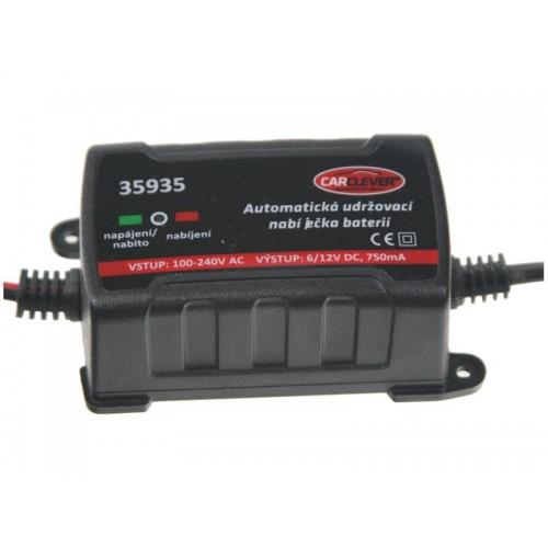 Nabíjačka akumulátorov olovených, automatická udržovacia 6/12V - 750mA