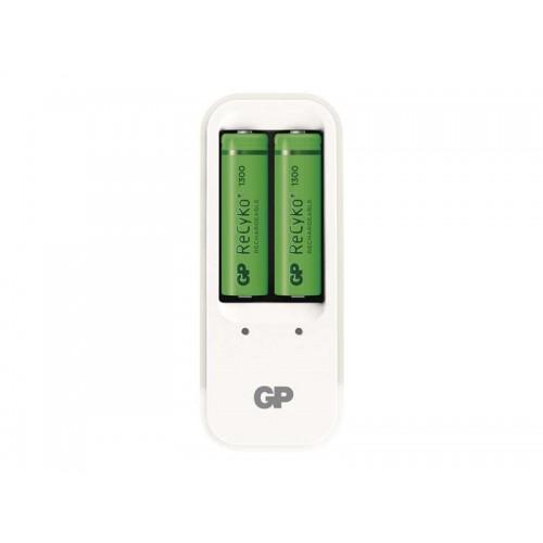 Nabíjačka GP PB410 + 2xAA Recyko+ 1300