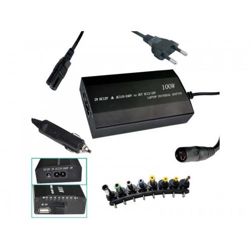 Nabíjačka notebook 100W 240V/12V-24V/USB PATONA PT2536 univerzálna