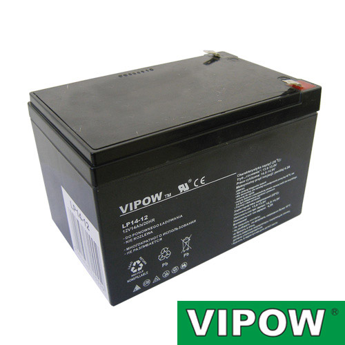 Batéria olovená 12V/ 14Ah VIPOW bezúdržbový akumulátor