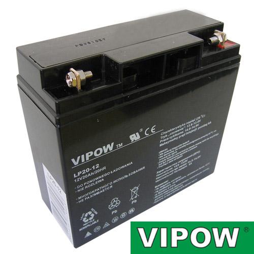 Batéria olovená 12V/20Ah VIPOW bezúdržbový akumulátor