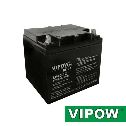 Batéria olovená 12V/40Ah VIPOW bezúdržbový akumulátor