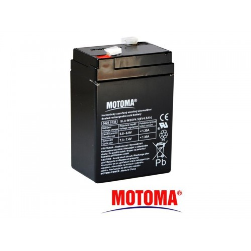 Batéria olovená 6V/ 4,5 Ah MOTOMA bezúdržbový akumulátor