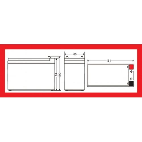 Batéria olovená 12V/ 7,5Ah MOTOMA bezúdržbový akumulátor