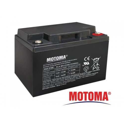 Batéria olovená 12V/ 40Ah MOTOMA bezúdržbový akumulátor