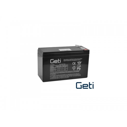 Batéria olovená 12V 7.5Ah GETI (konektor 6,35 mm)