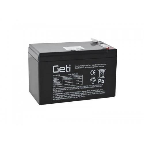 Batéria olovená 12V 9Ah Geti (konektor 6,35 mm)