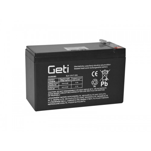 Batéria olovená 12V 7.0Ah Geti (konektor 4,75 mm)