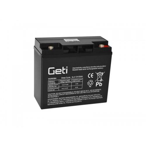 Batéria olovená 12V 20Ah Geti pre elektromotory