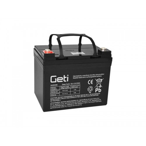Batéria olovená 12V 33Ah Geti pre elektromotory