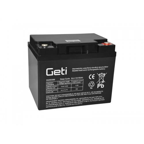 Batéria olovená 12V 50Ah Geti pre elektromotory