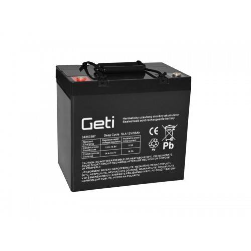 Batéria olovená 12V 55Ah Geti pre elektromotory