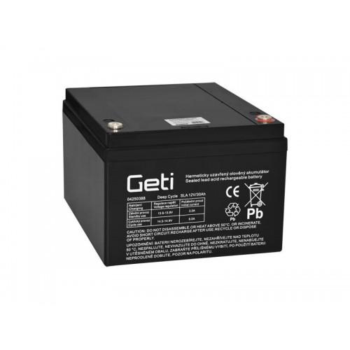 Batéria olovená 12V 30Ah Geti pre elektromotory