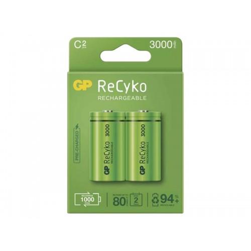 Batéria C (R14) nabíjací 1,2V/3000mAh GP Recyko 2ks