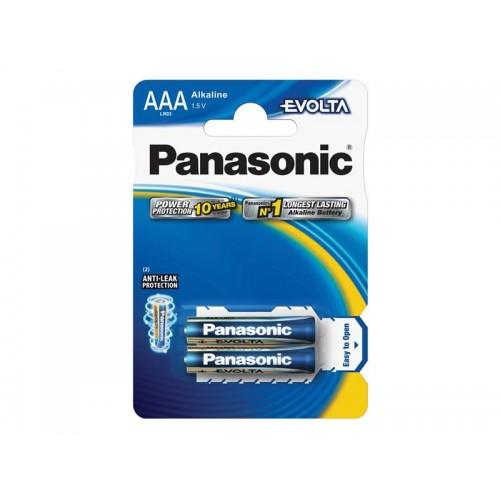 Batéria AAA(LR03) alkalická PANASONIC Evolta 2BP