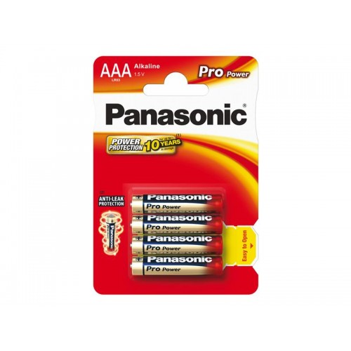 Batéria AAA(LR03) alkalická PANASONIC Pro Power 4BP