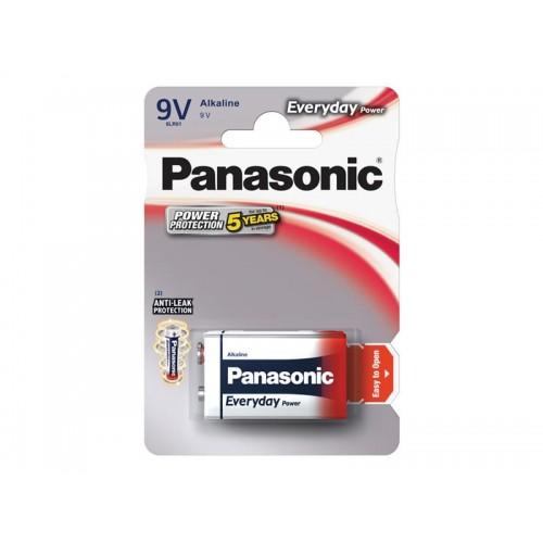 Batéria 6F22 (9V) alkalická PANASONIC Everyday Power 6LR61 1BP