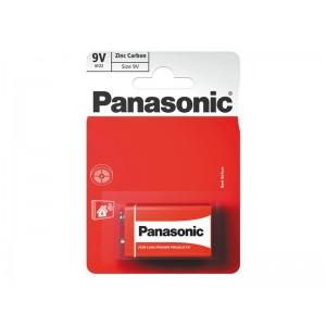 Batéria 6F22 (9V) Red zinkouhlíková, PANASONIC