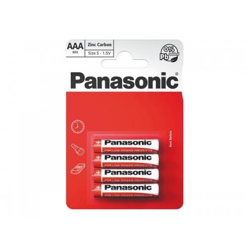 Batéria R03 AAA Red zinkouhlíková, PANASONIC 4BP