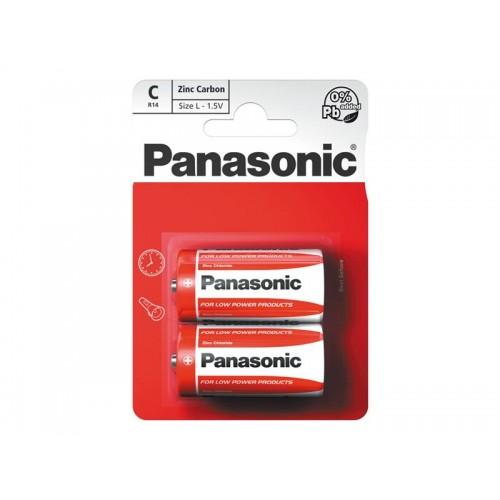 Batéria R14 (C) Red zinkouhlíková, PANASONIC 2BP