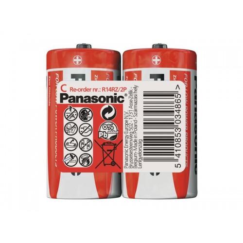 Batéria R14 (C) Red zinkouhlíková, PANASONIC 2S