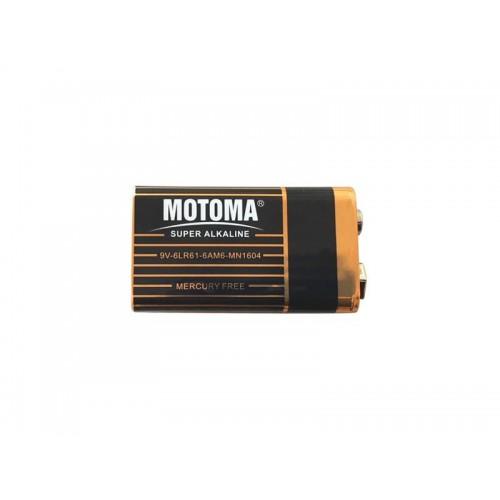 Batéria alkalická 9V MOTOMA Black edition