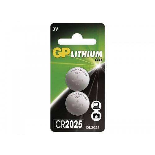 Batéria CR2025 GP lítiová (blister 2 kusy)