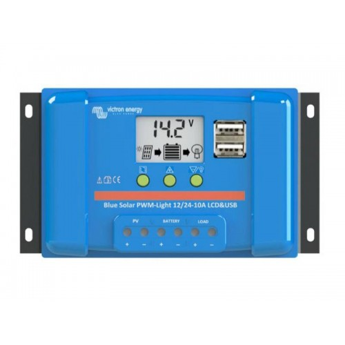 Solárny regulátor PWM BlueSolar 5A LCD and USB 12V / 24V