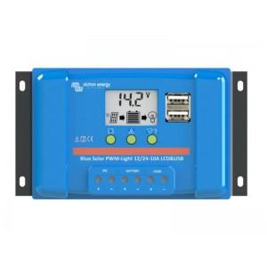 Solárny regulátor PWM BlueSolar 10A LCD and USB 12V / 24V