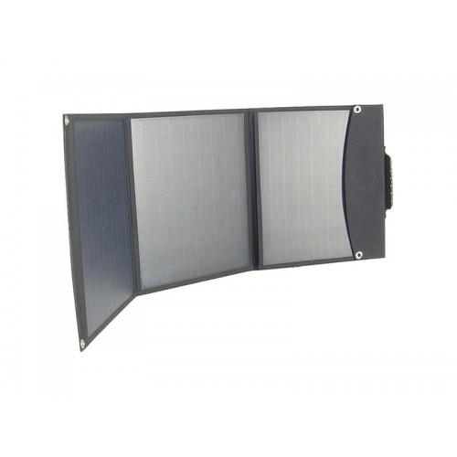 Fotovoltaický solárny panel USB + 12V / 60W prenosný, skladací