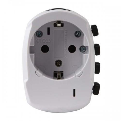 Adaptér cestovný, vysúvací, biely PA34