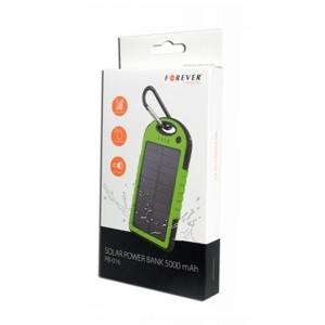 Externá batéria (PowerBank) 5000mAh, solárna, zelená FOREVER PB-016