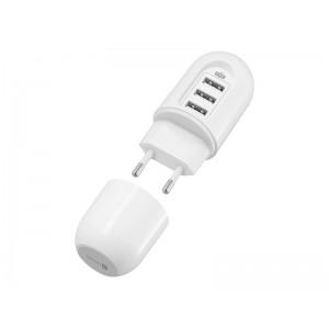 Nabíjačka cestovná CONNECT IT CI-1202 Power Nomad 3xUSB (3,4 A Smart IC), biela